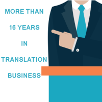 16 years of experience in the translation business