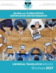 universal translation services brochure