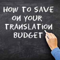 save translation budget