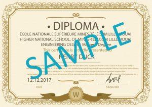 certified diploma translation sample