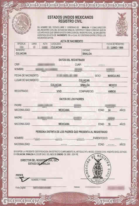 Birth certificate translation services for uscis fast and for Mexican birth certificate translation template