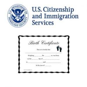 uscis birth certificate template