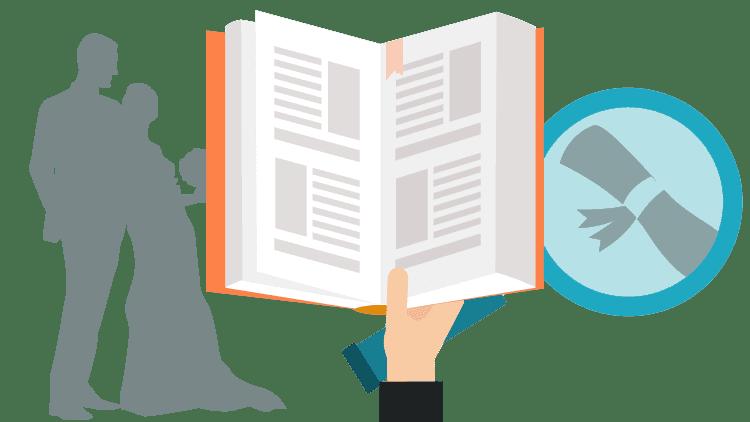 Marriage certificate translation: steps for translation infographic