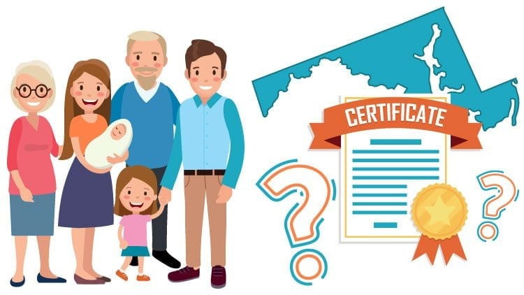 What Does A Maryland Birth Certificate Look Like
