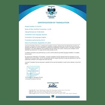 certified translation birth certificate dominica