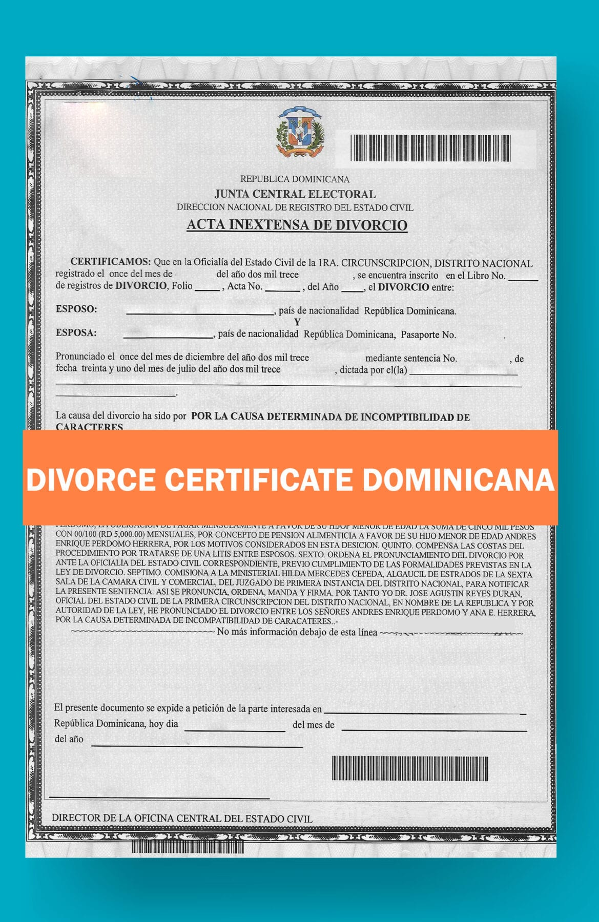 DIVORCE-CERTIFICATE-TEMPLATE-DOMINICANA