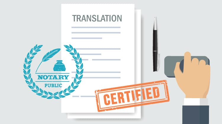 difference between notarized and certified translation
