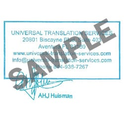 CERTIFIED TRANSLATION STAMP